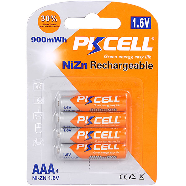 NiZn AAA 900mWh Rechargeable Battery